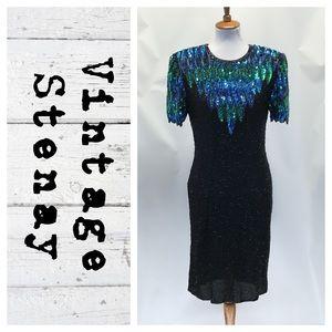 Vintage Stenay Silk bead/Sequins dress